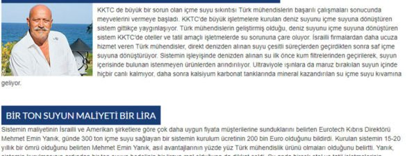 Kıbrıs'lı Türkler, Arıtılan Deniz Suyunu İçiyor