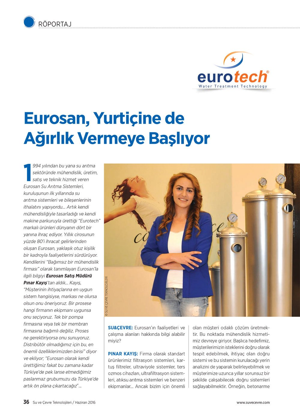 Eurosan Yurtiçine de Ağırlık vermeye başlıyor